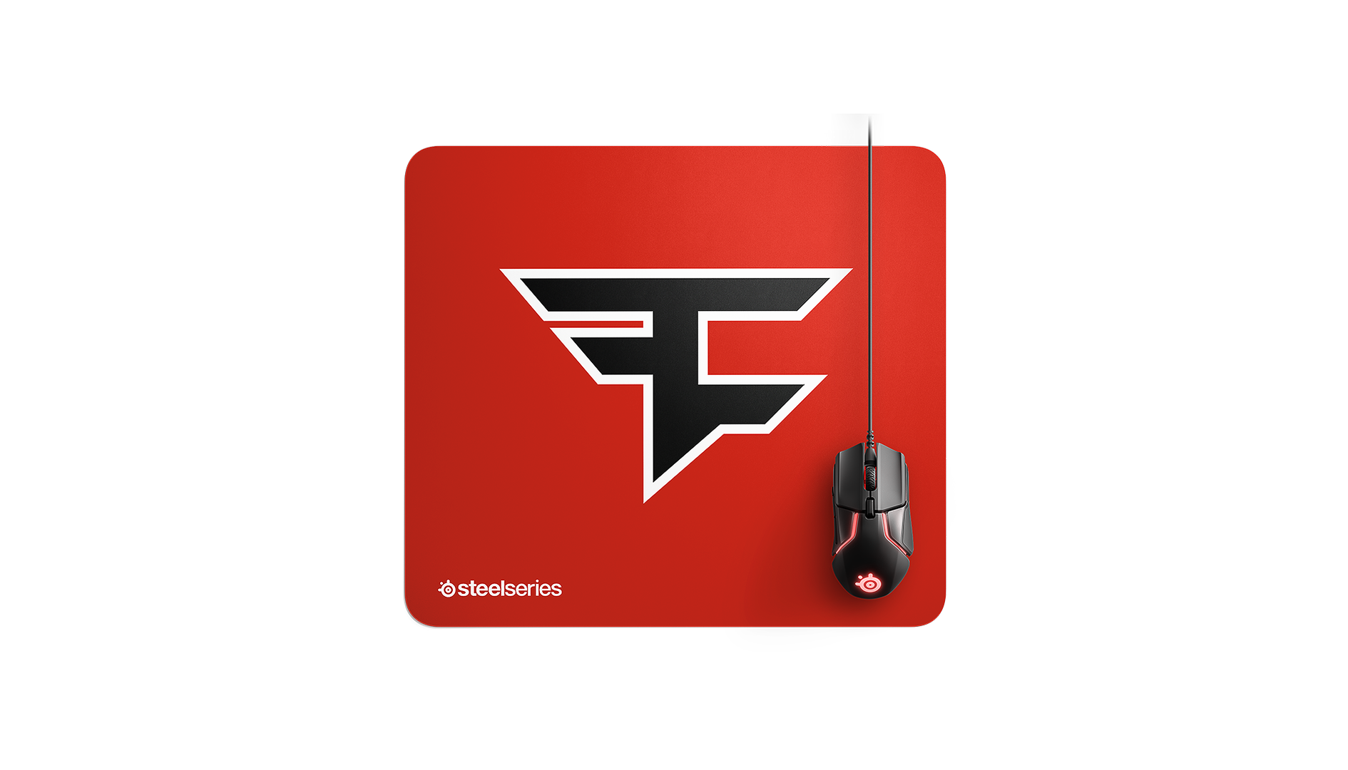 FaZe SteelSeires mousepad with correct logo bold style