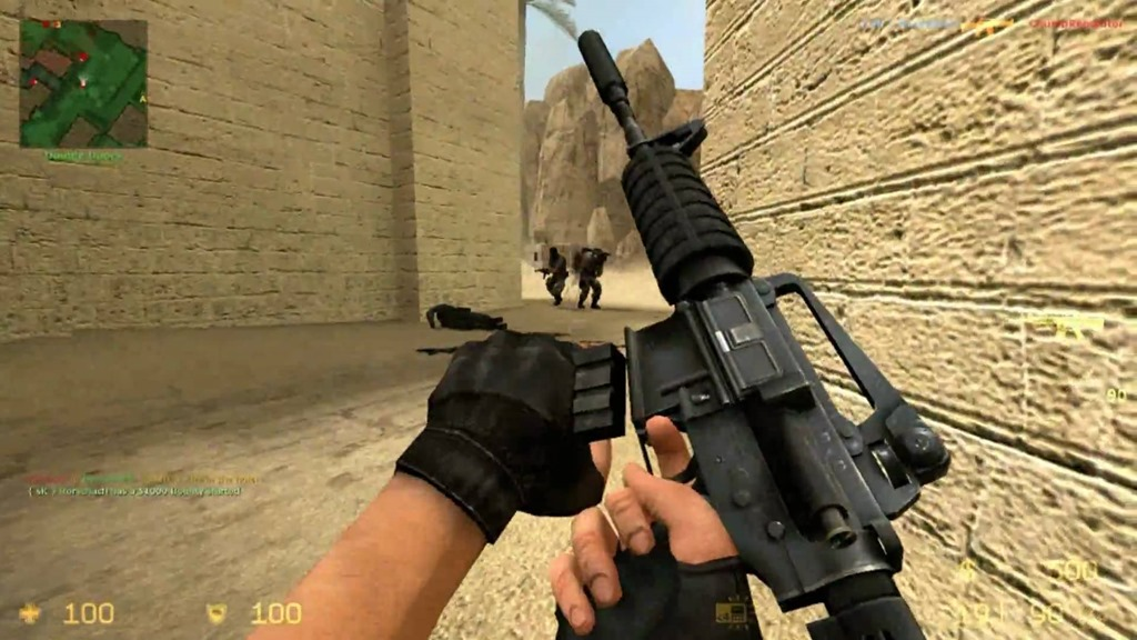 A look at reloading in Counter-Strike: Source.