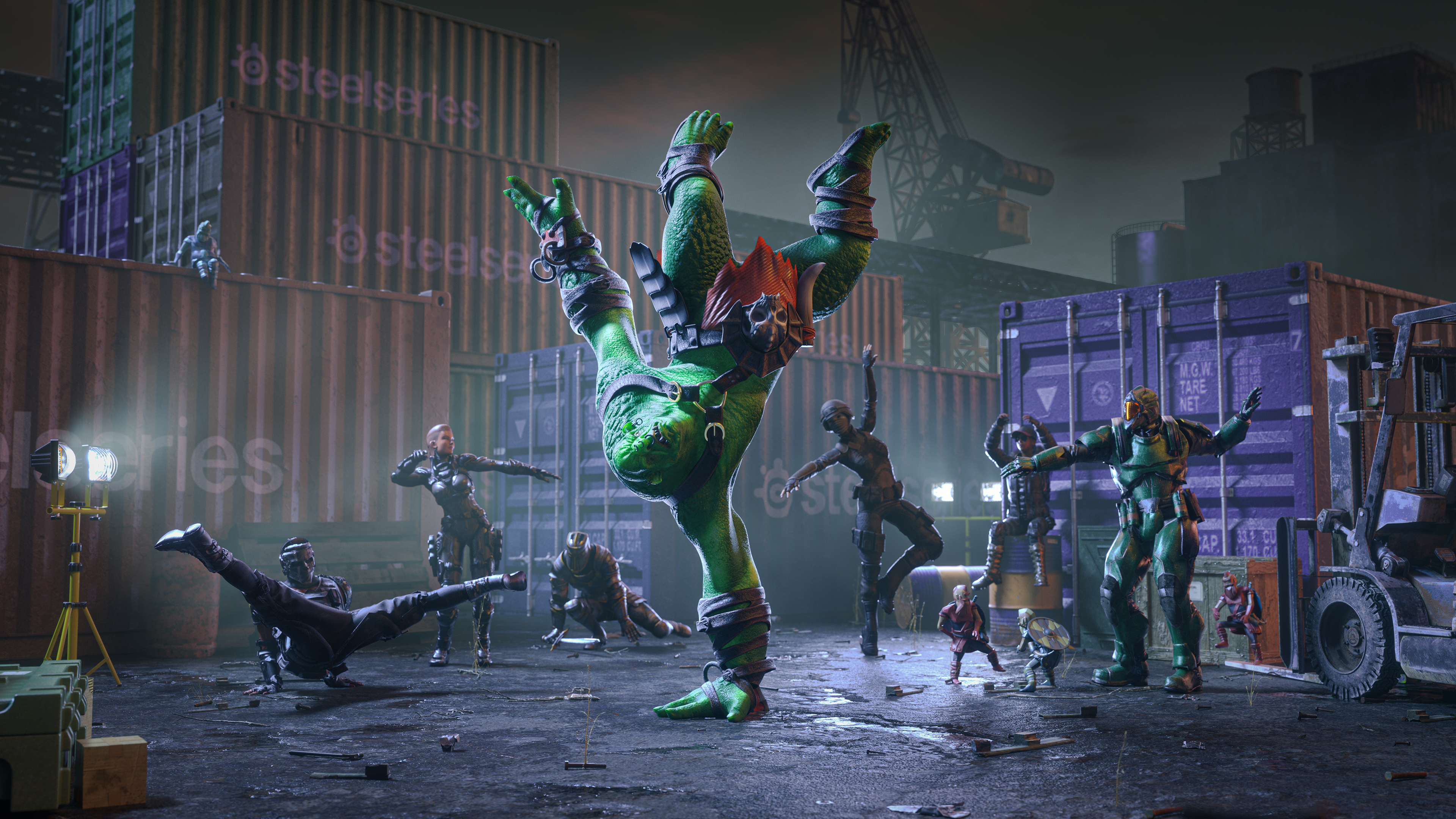 Lars and characters dancing