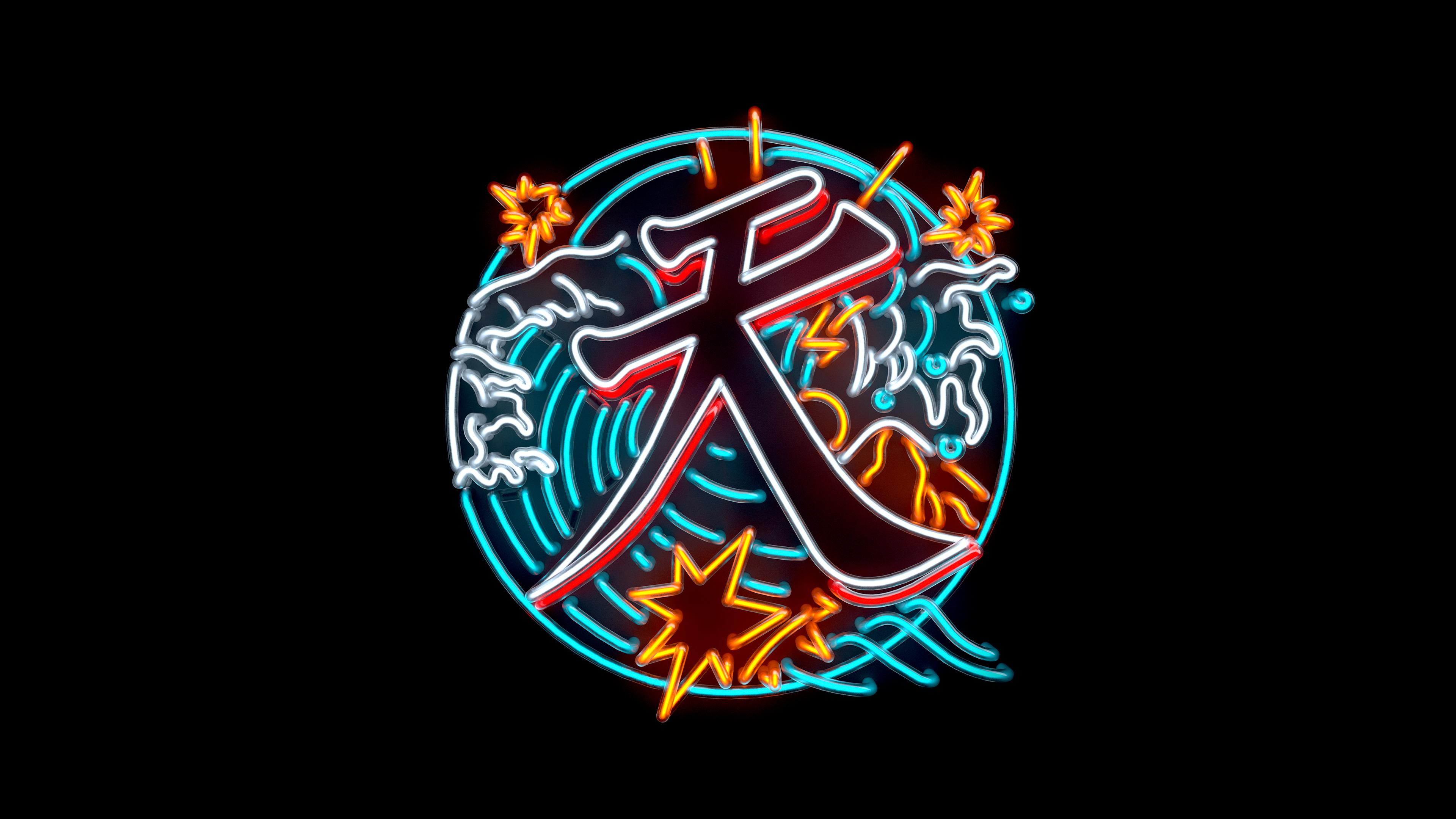 "Sensei Ten neon logo reading ""ten"" in Japanese character"