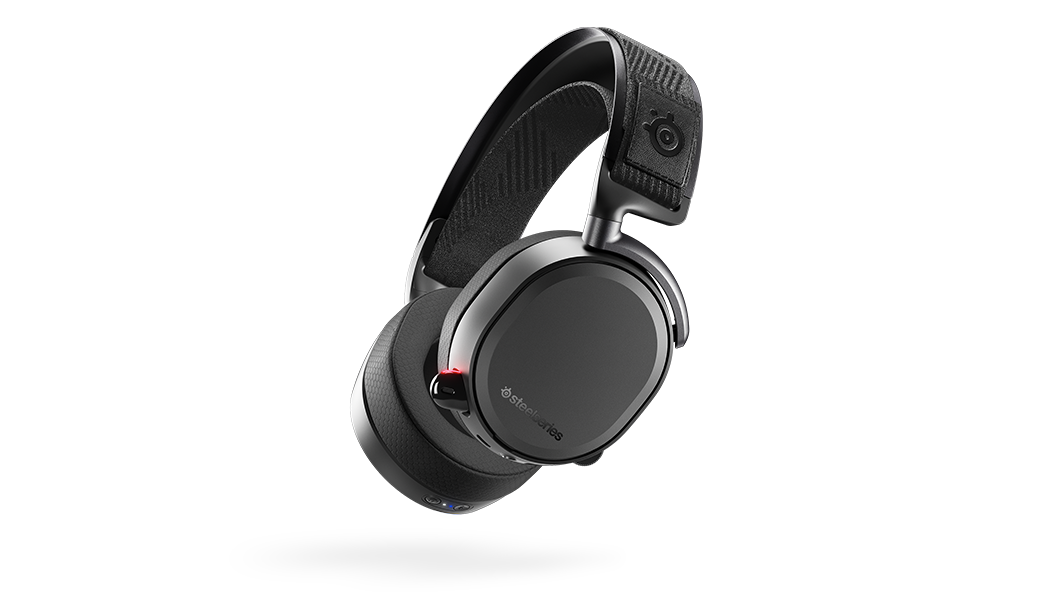 A black Arctis Pro Wireless on a blank background