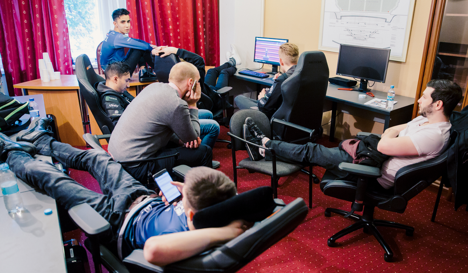 Evil Geniuses getting some downtime in between matches at Kiev Major 2017
