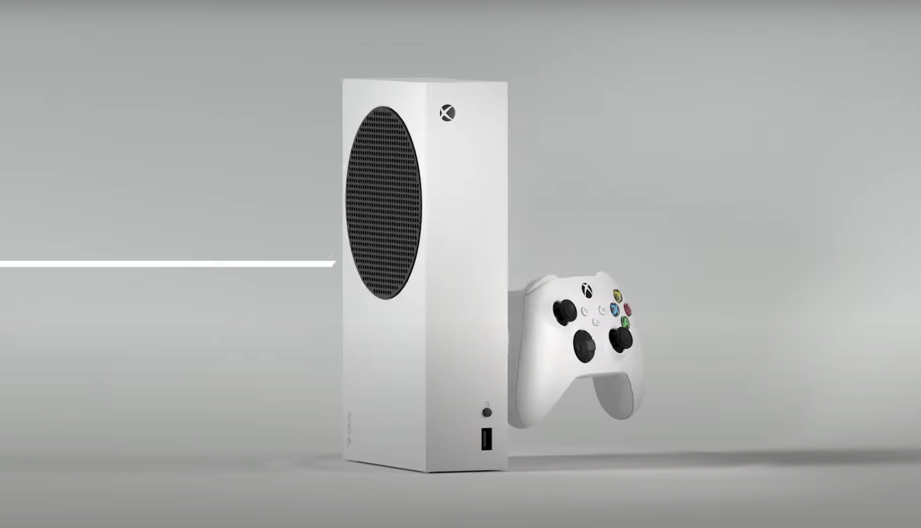 The Xbox Series S is much smaller than the Xbox Series X.