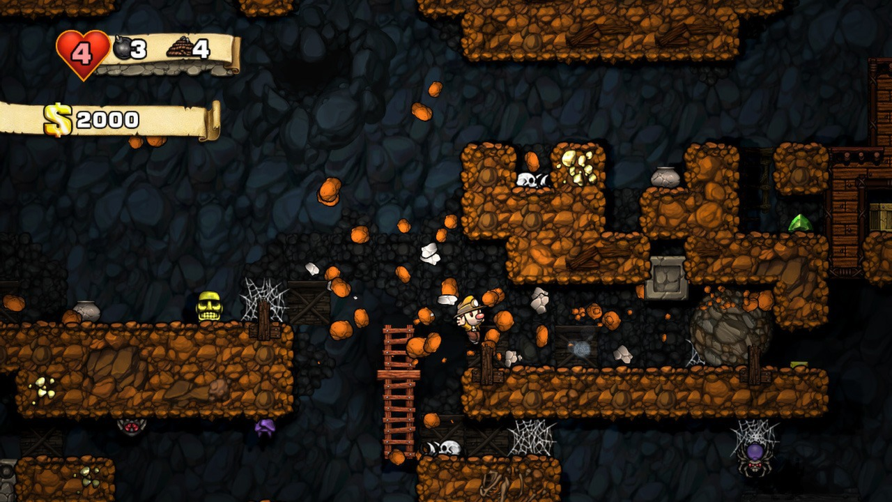 Character from video game, Spelunky