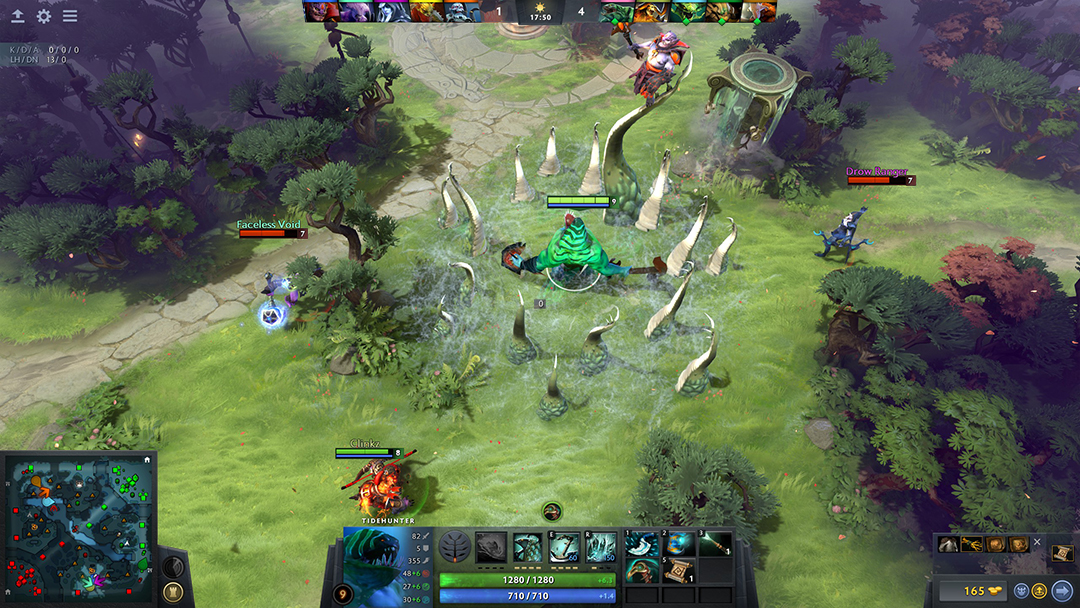 Gameplay of midlanefrom video game, Dota 2