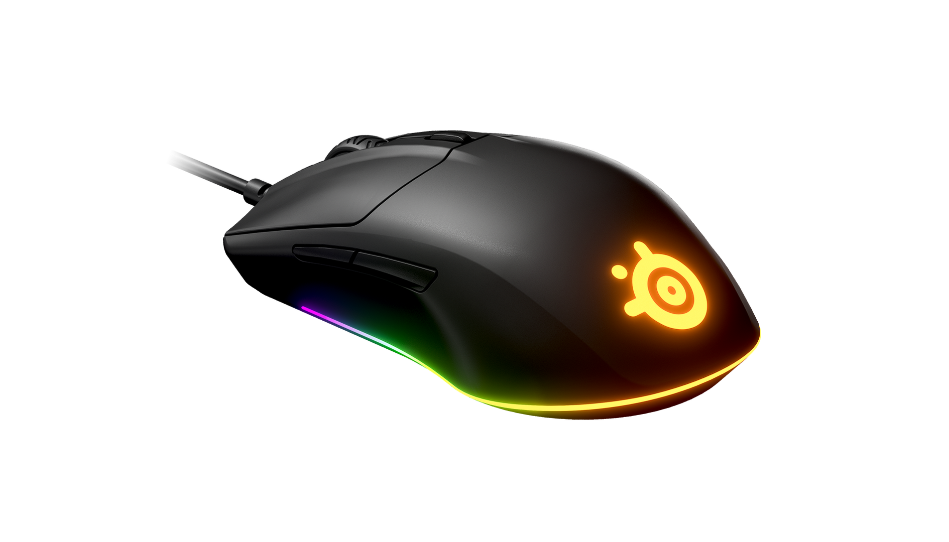 An up-close look at the Rival 3, showing off a bit of its Prism lighting.