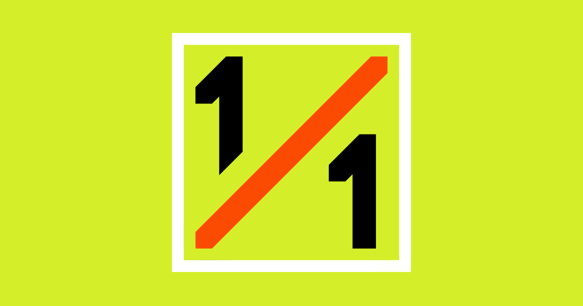 1 to 1 tracking logo