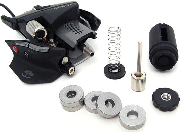 Internal components of a weighted mouse