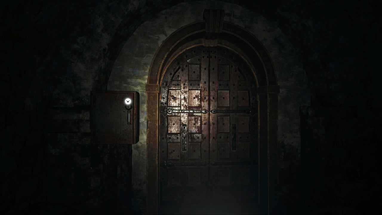 One of the doors something big could be hiding behind in Resident Evil Village.