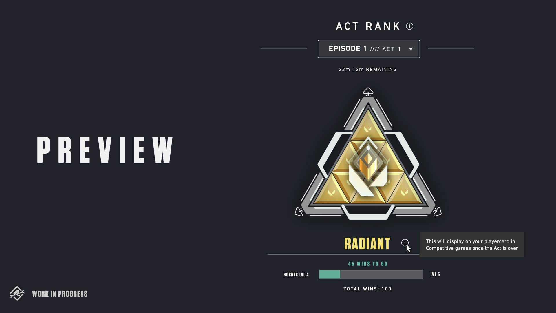 Valorant act 1 rank system Radiant level badge