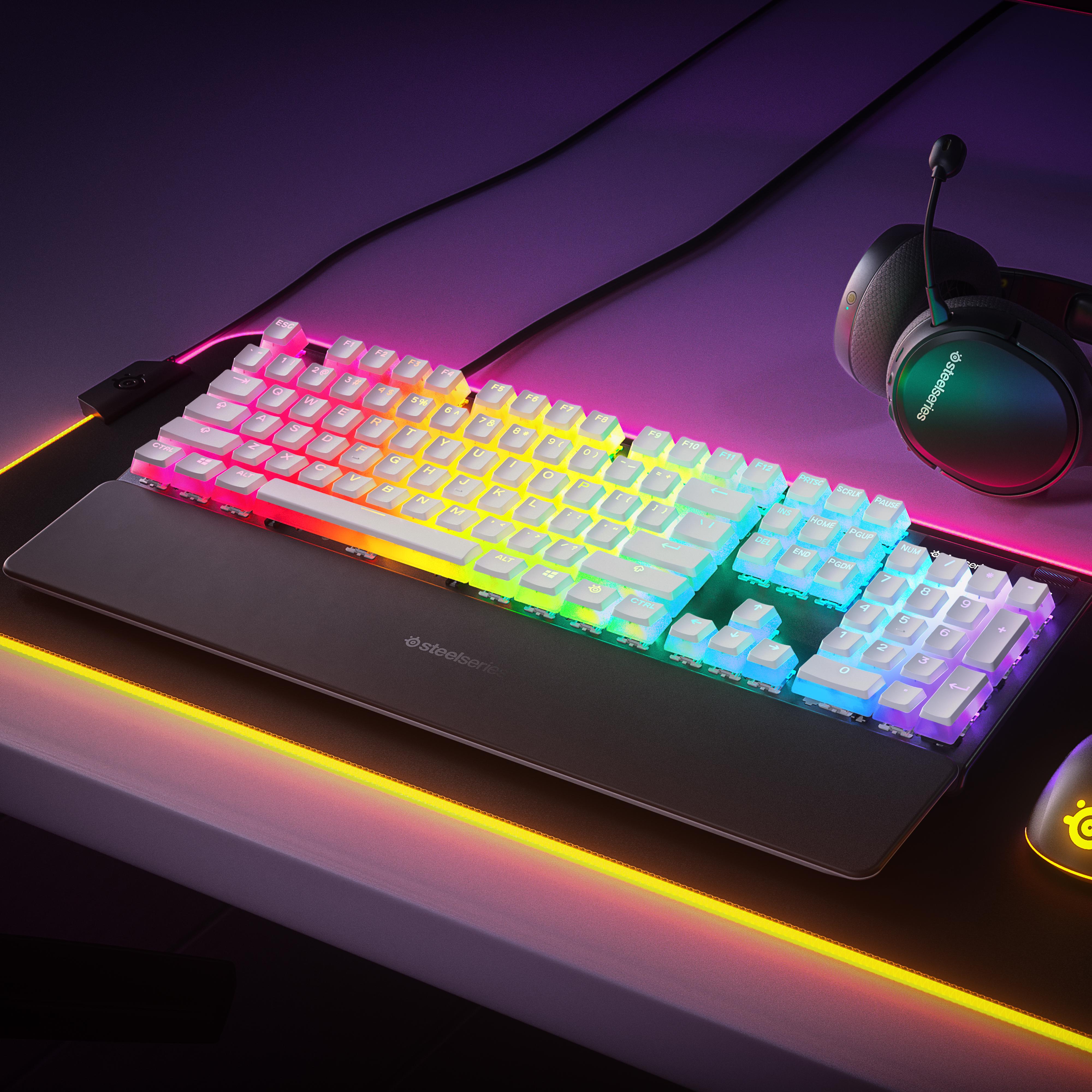 PrismCaps on a SteelSeries keyboard