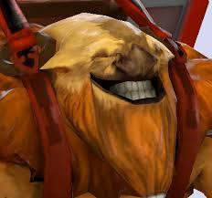 Dota2 character troll grinning