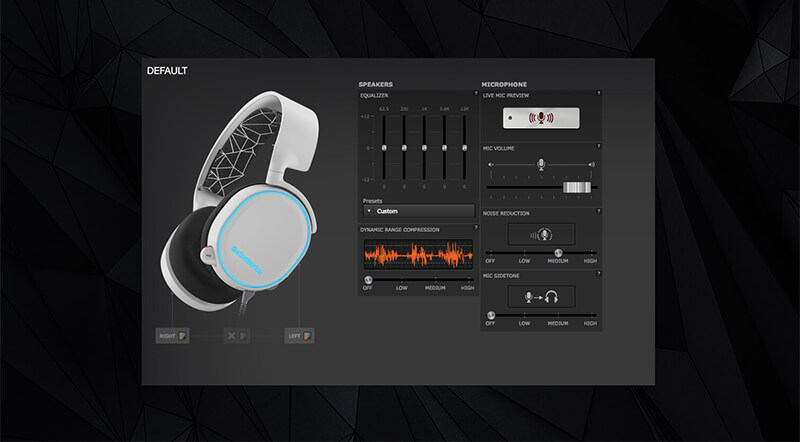 SteelSeries Engine 3 Arctis device window image