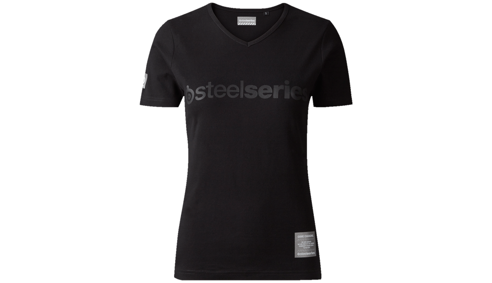 Logo Pro Ladies V-neck T-shirt - Black