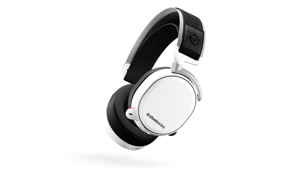 SteelSeries Arctis Pro Wireless - White Arctis Pro Wireless features rock solid dual-wireless technology with lag-free 2.4G wireless lossless audio and Bluetooth mobile audio, combined with hi-res capable speaker drivers and a ClearCast mic making it the ultimate gaming audio system.