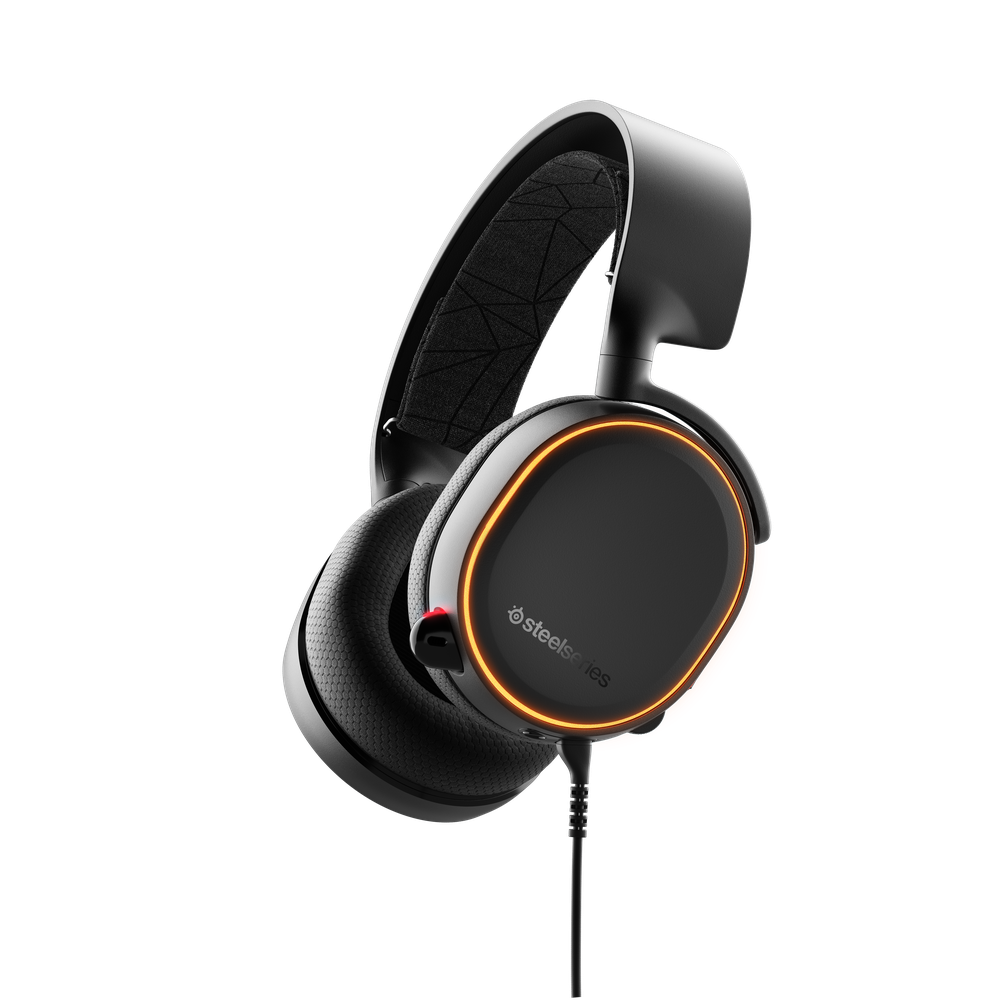 SteelSeries Arctis 5 Black (2019 Edition) Arctis 5 is a USB-enabled PC gaming headset with DTS Headphone:X v2.0 surround sound, Prism RGB illumination, and Clearcast, the best mic in gaming