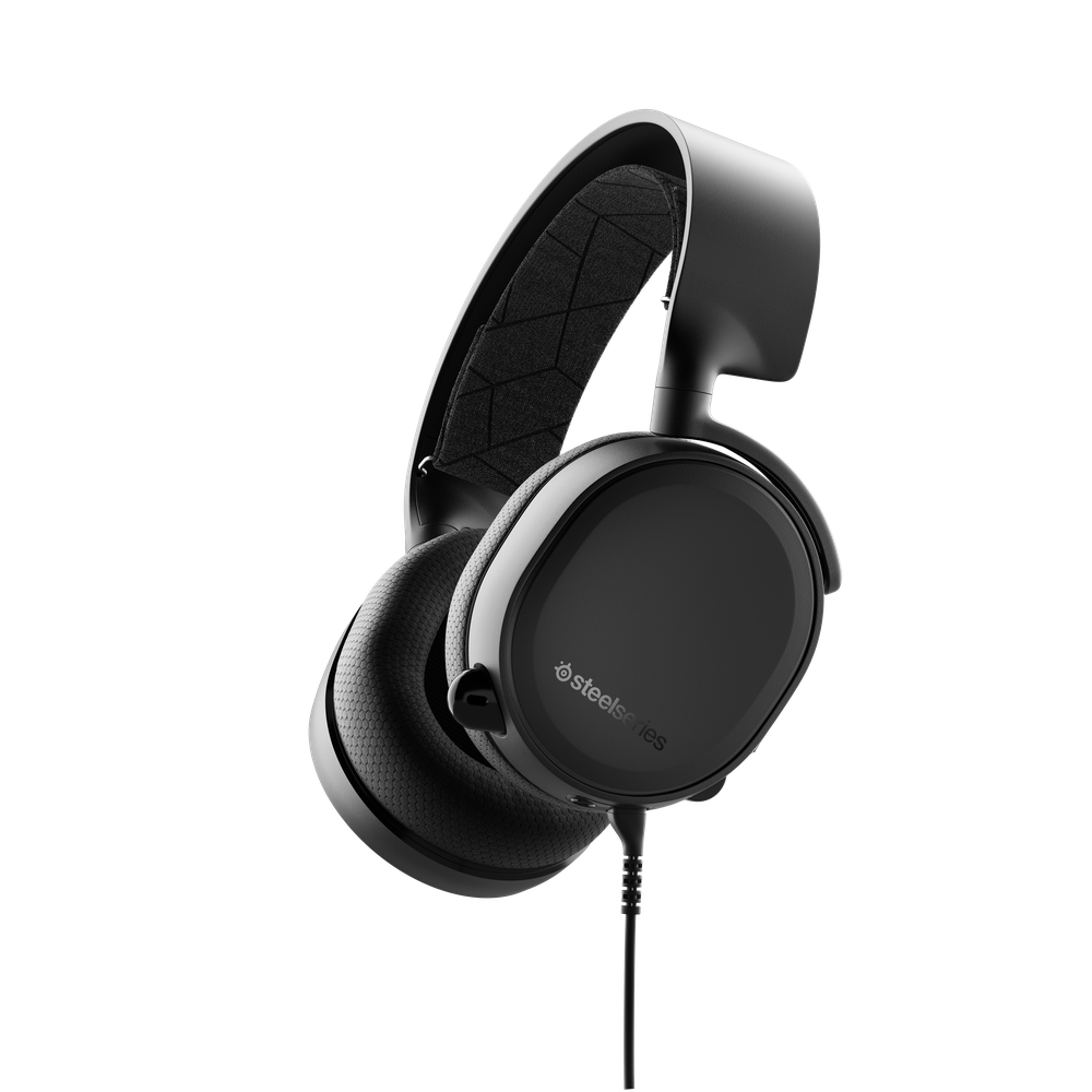 SteelSeries Arctis 3 Black (2019 Edition) Arctis 3 is the best headset for everywhere you game, with superior sound, comfort and style on all gaming platforms, including PC, PlayStation, Xbox One, Nintendo Switch, VR and mobile via detachable 3.5mm cables