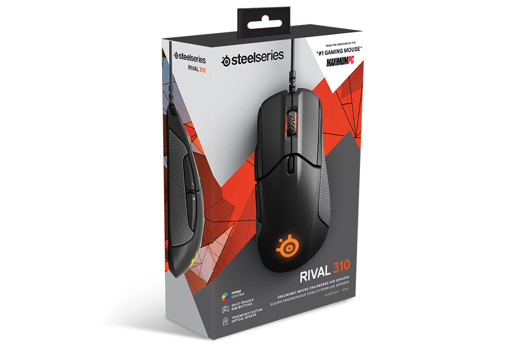 Rival 310 gaming mouse product box