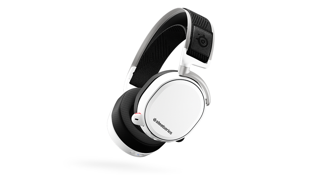 Arctis Pro Wireless White viewed from an angle