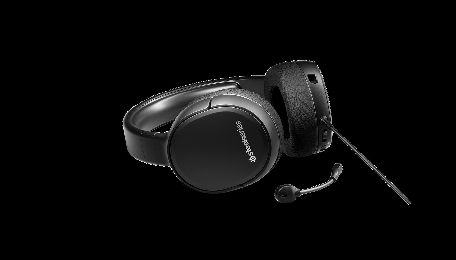 Le casque audio de gaming Arctis1 sur une surface avec le micro détaché