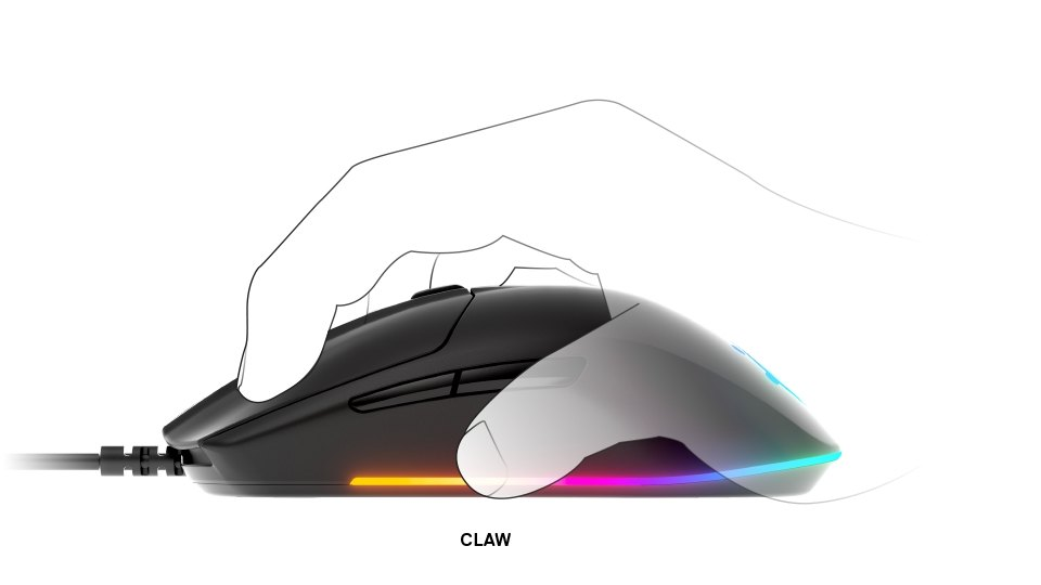Rival 3 claw grip example
