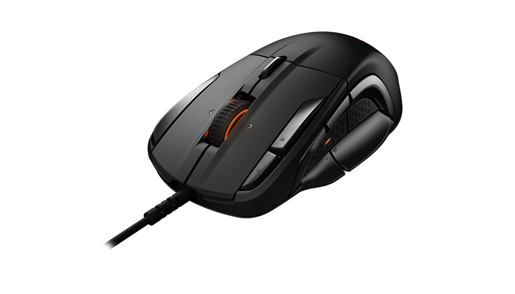 Rival 500 gaming mouse, front view