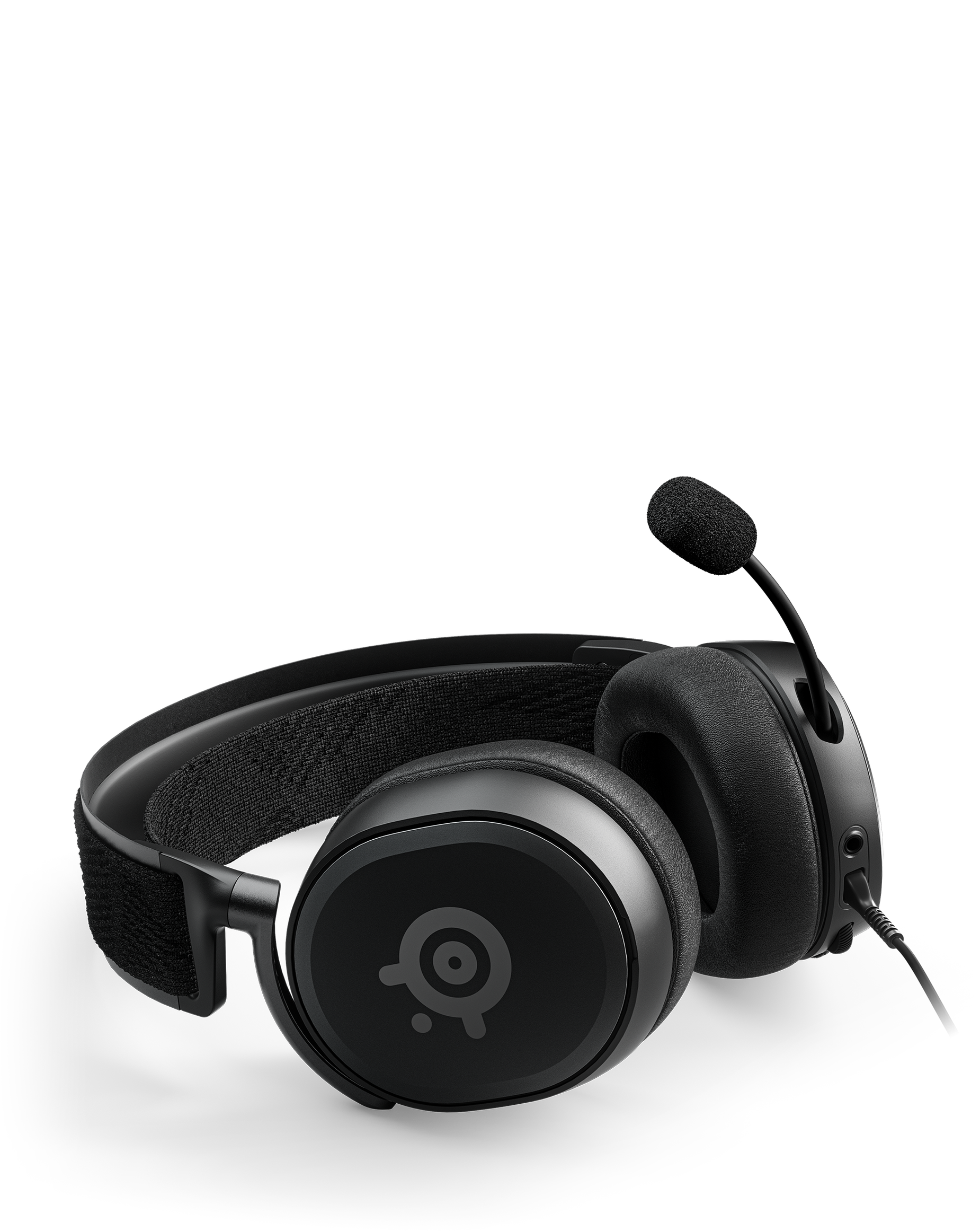 An Arctis Prime laying flat with the mic extended.