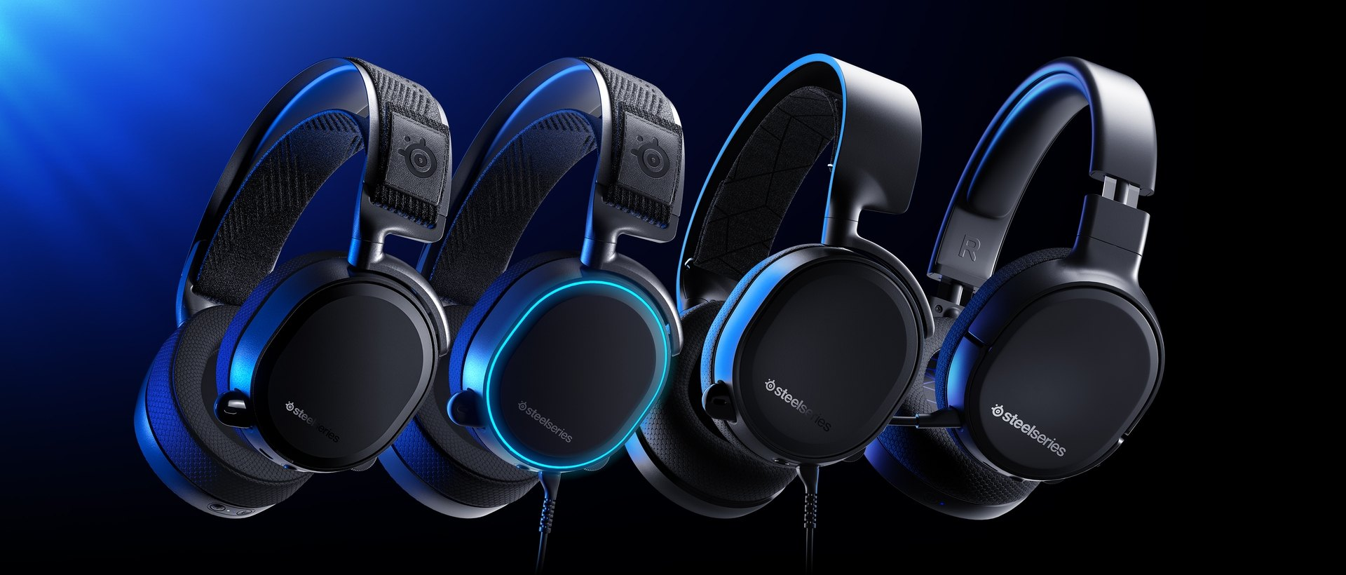 The PlayStation next gen compatible Arctis headsets