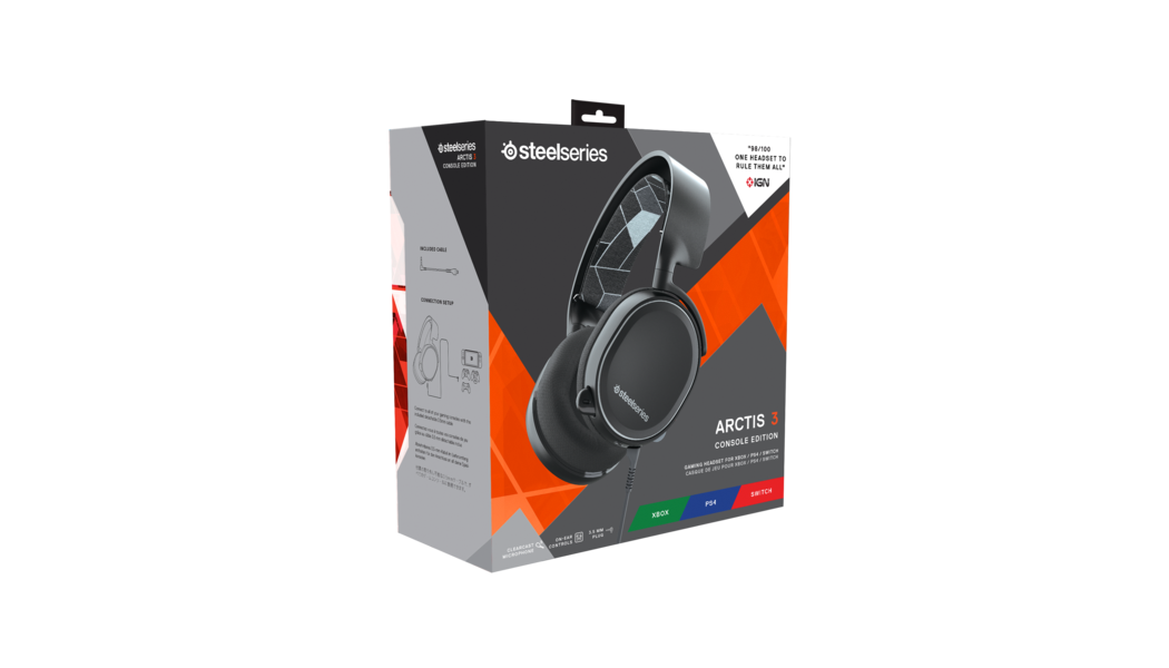 Full packaging and box for Arctis 3 Console Edition