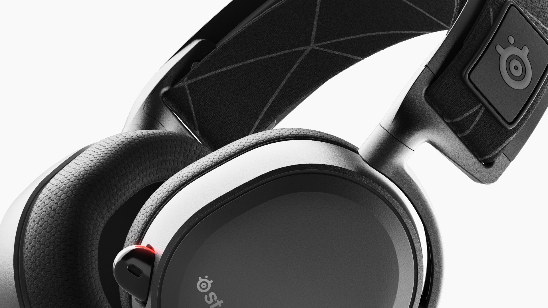 Arctis 7 Headset Mikrobild-Nahaufnahme