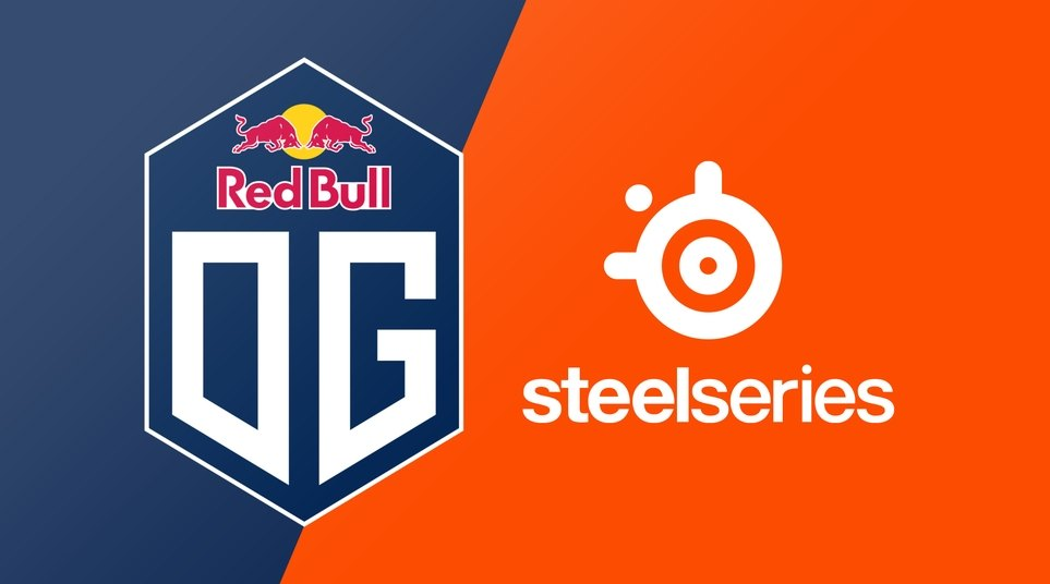 Red bull OG and steelseries logos