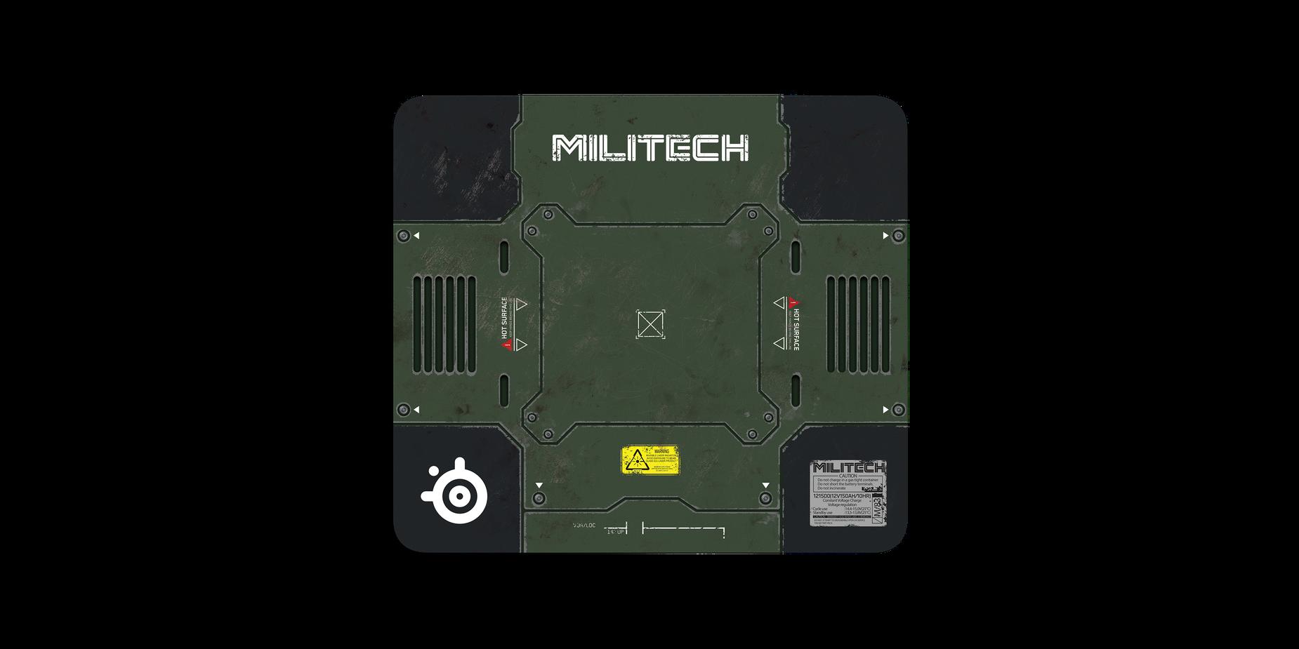 Podkładka pod mysz QcK Cyberpunk Militech od przodu z pełną grafiką