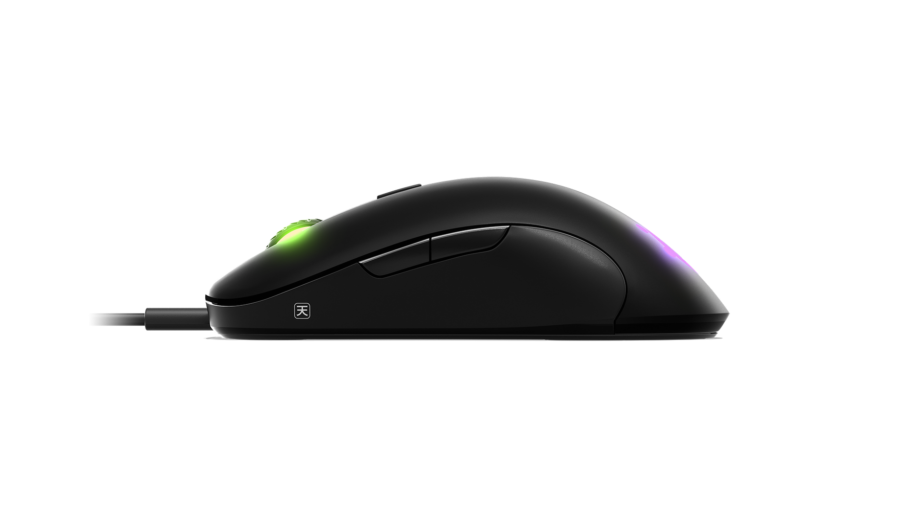 Sensei Ten gaming mouse, side view