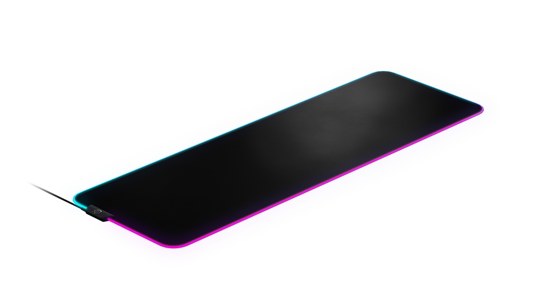 QcK Prism XL gaming mousepad with RGB on edges