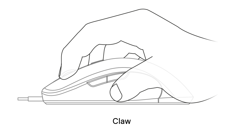 Sensei Ten claw grip example