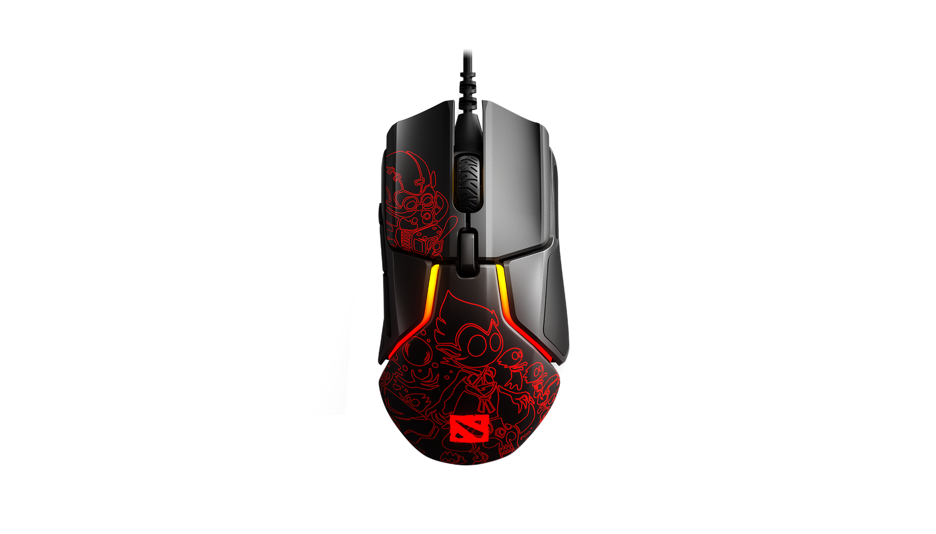 Rival 600 Dota 2 Edition, top view