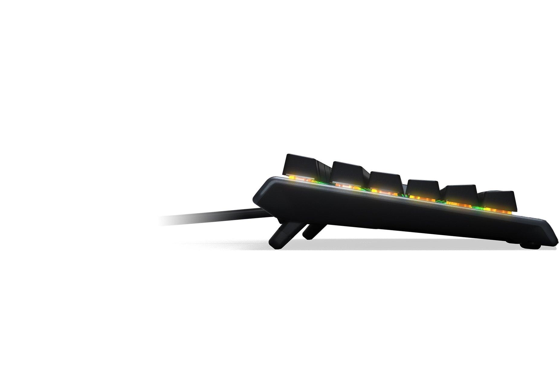 Das schlanke Profil der Apex 3TKL mit kompaktem Design und Anti-Ghosting-Technologie.
