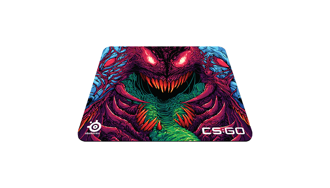 QcK+ top angle with CS:GO Hyper Beast artwork