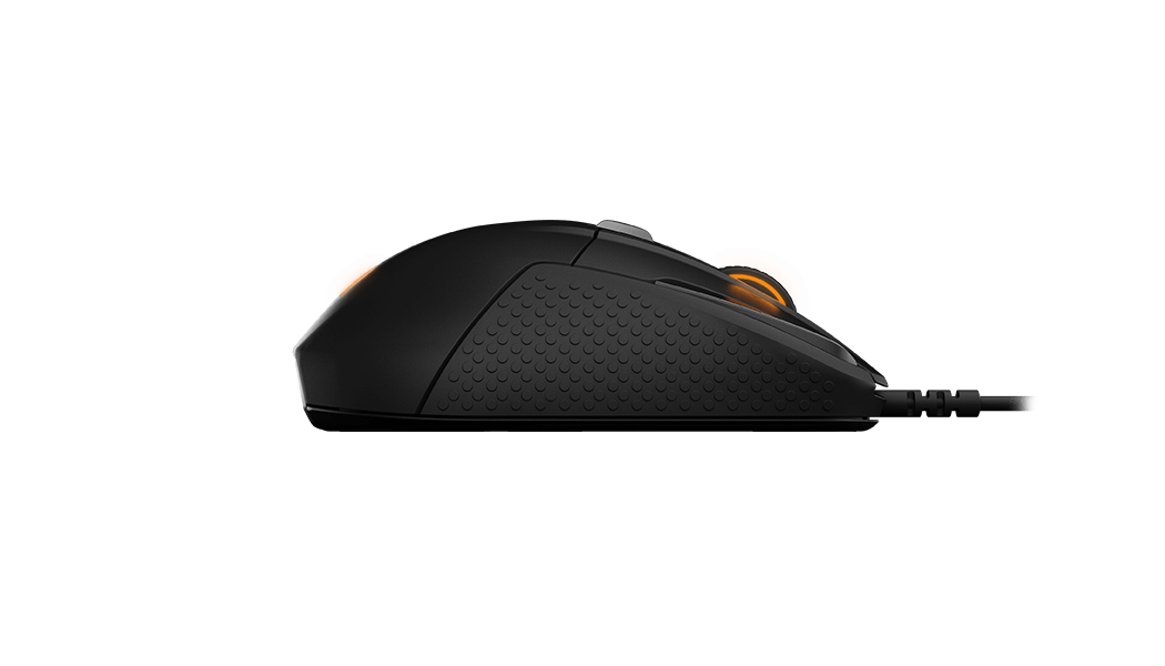 Rival 500 gaming mouse, alternative side view