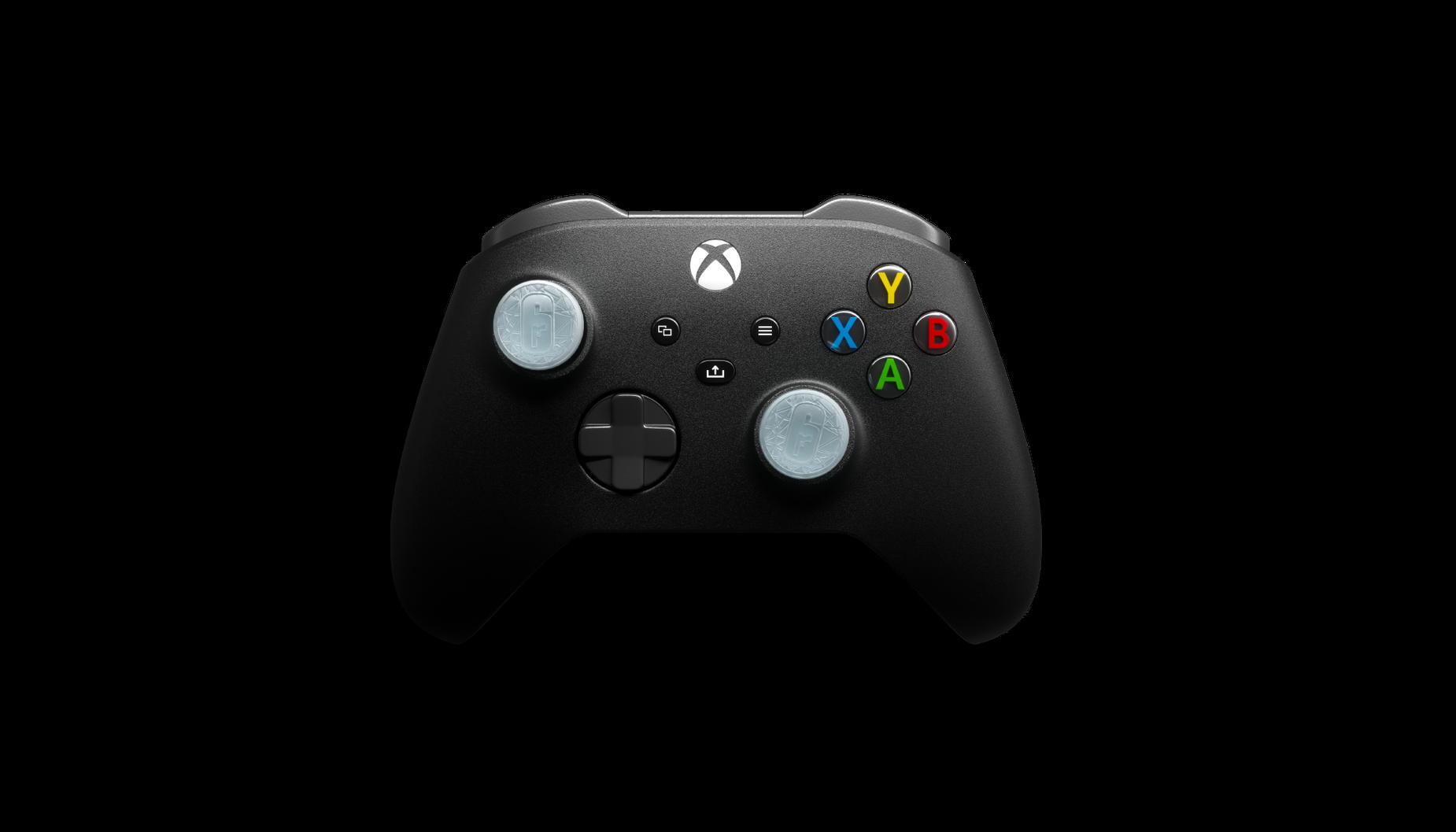 Les joysticks de performance Black Ice de KontrolFreek sur une manette.