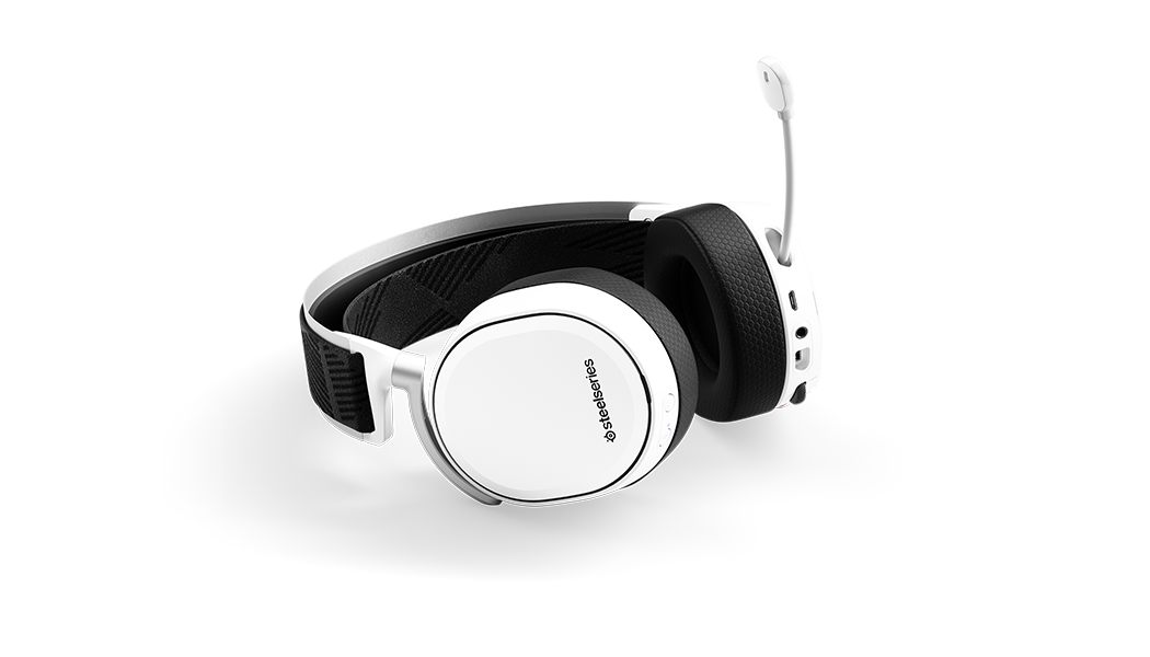 Arctis Pro Wireless White flach liegend