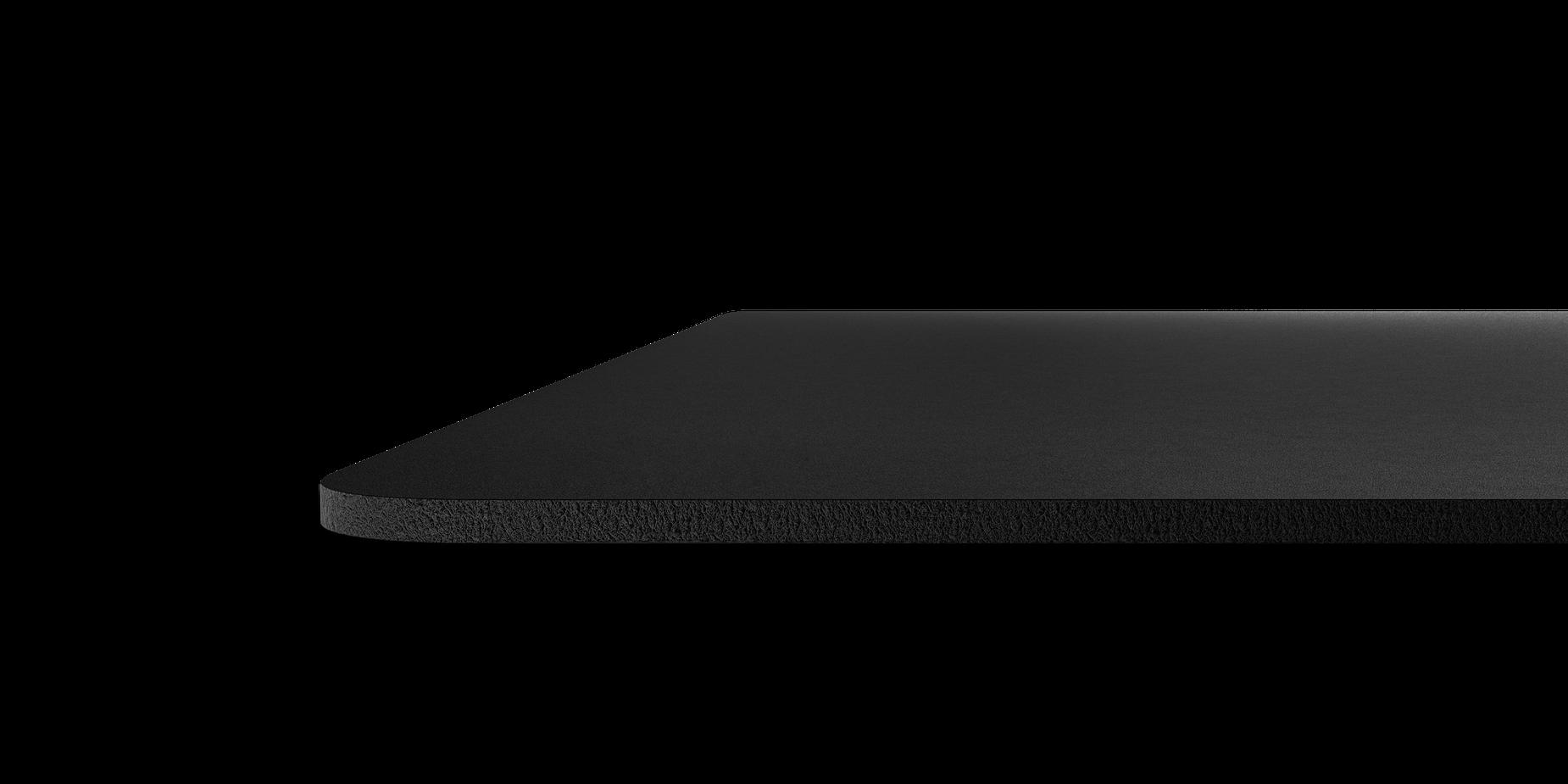 QcKマウスパッドの厚さを見せる画像