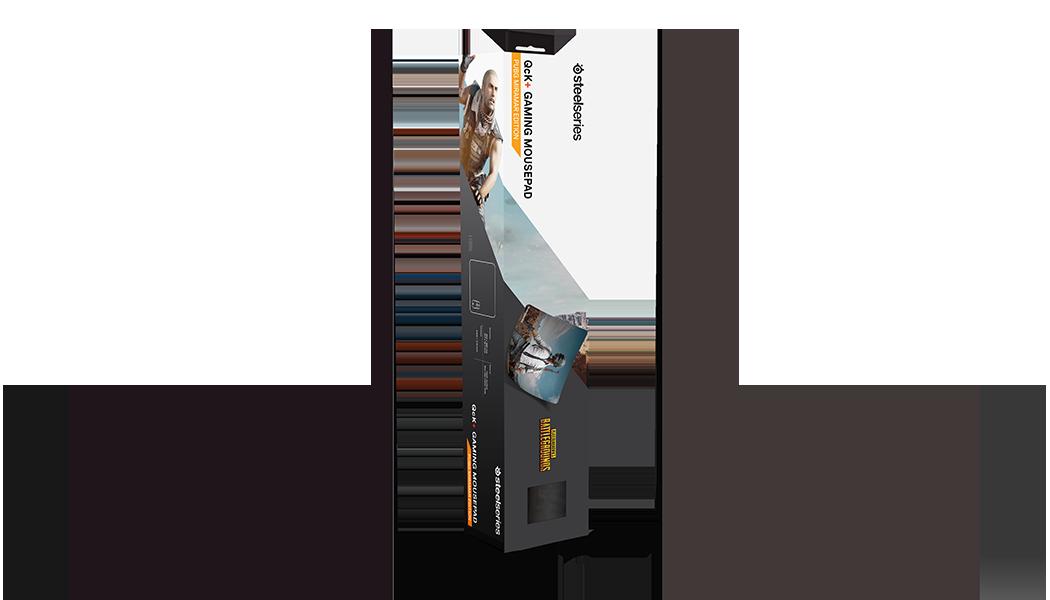 QcK+ PUBG Miramar Edition gaming mousepad product box