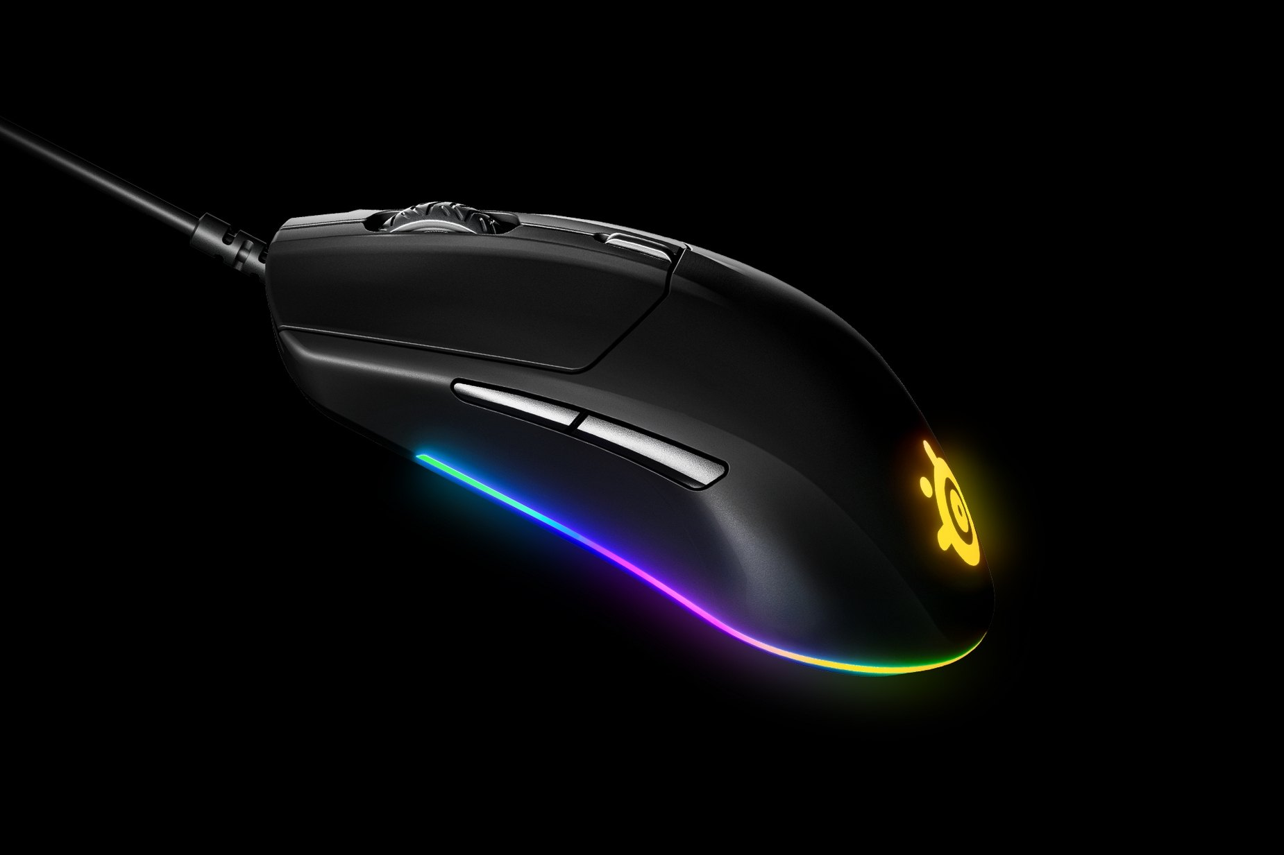 Rival 3 gaming mouse side view