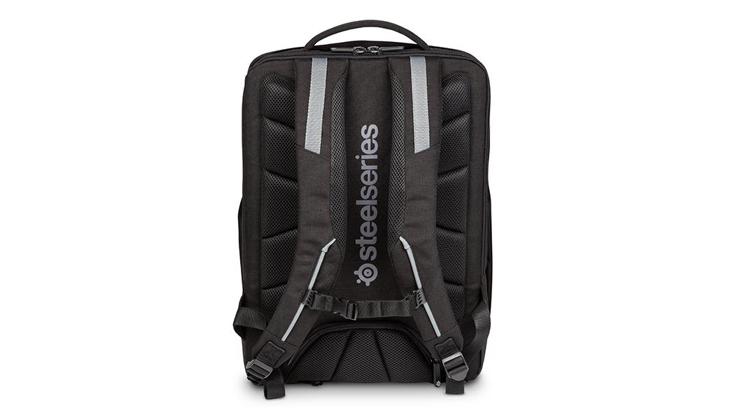 Targus X SteelSeries Sniper 17.3 吋背包,背面視圖