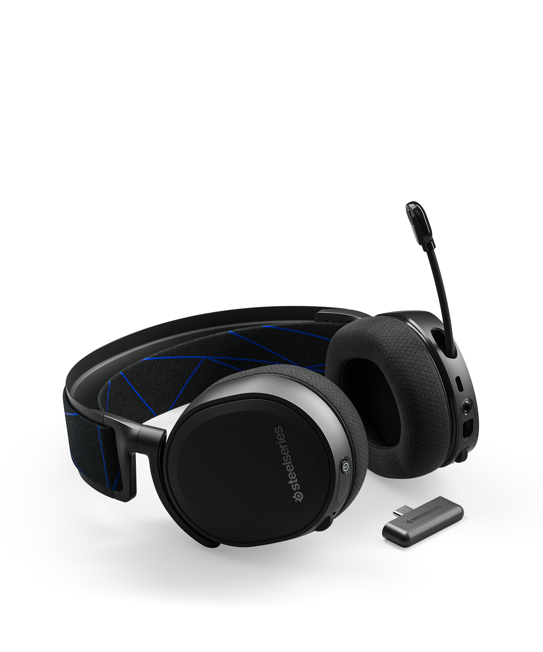 Headset laying flat with clearcast microphone in the extended position