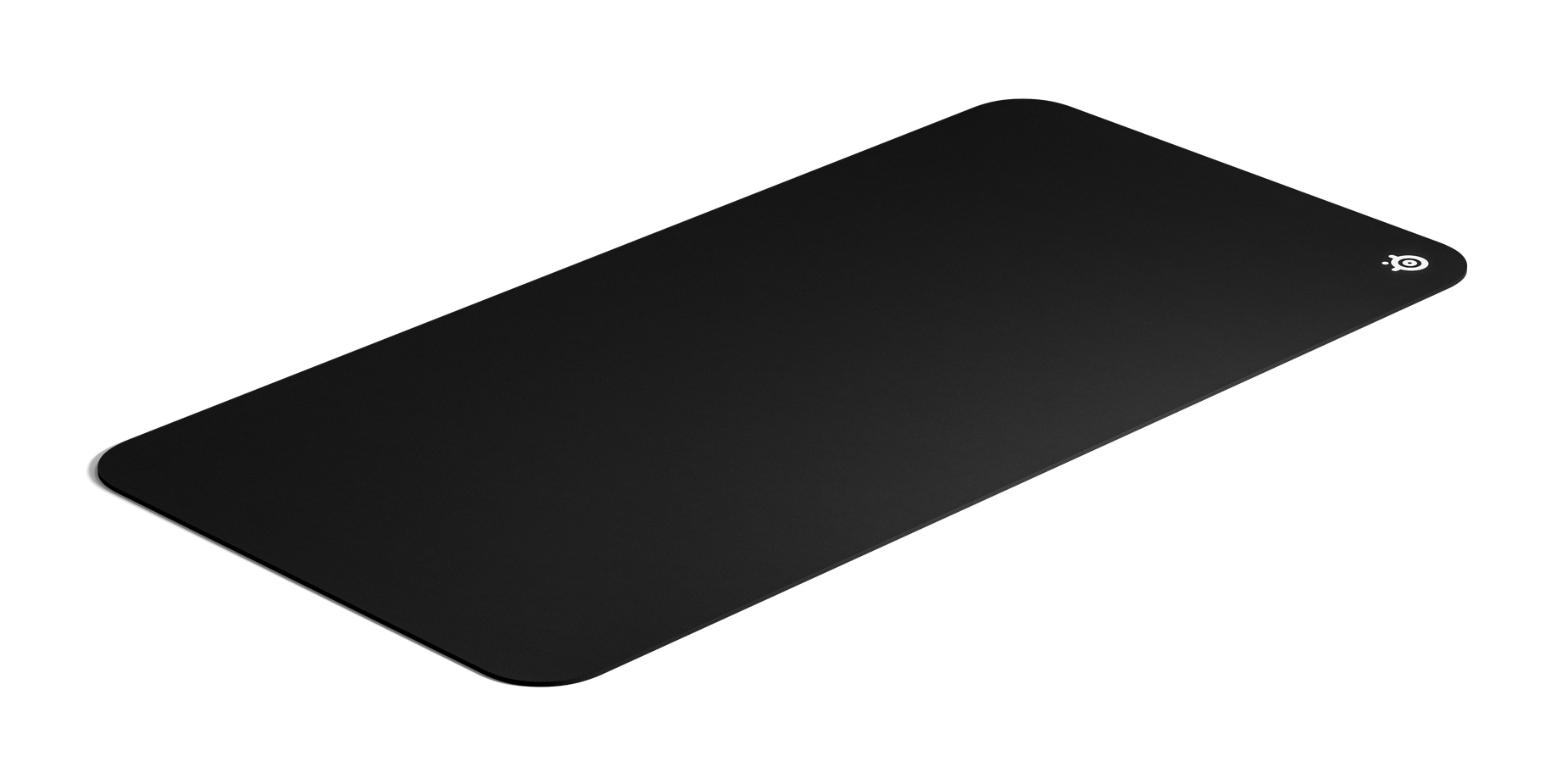 Mousepad at an angle to show the scale