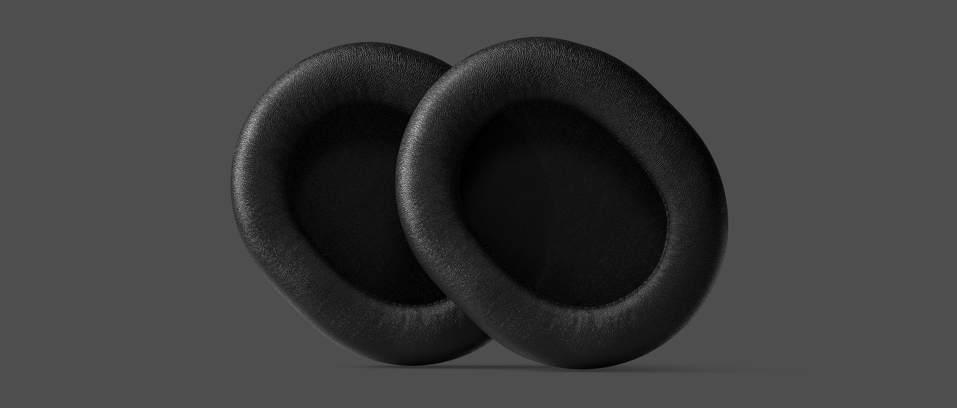 A closeup of the Arctis Prime's leatherette earcups.