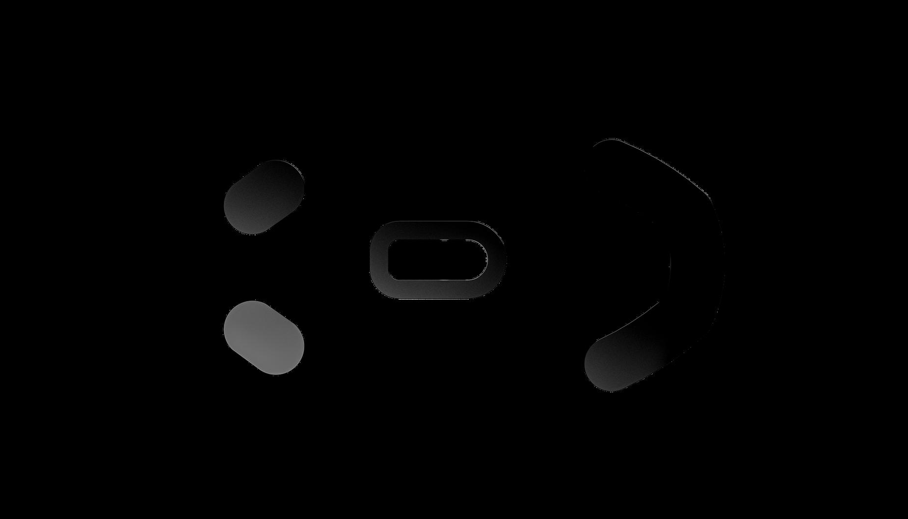 Prime+ゲーミングマウスのマウスグライドの俯瞰図。