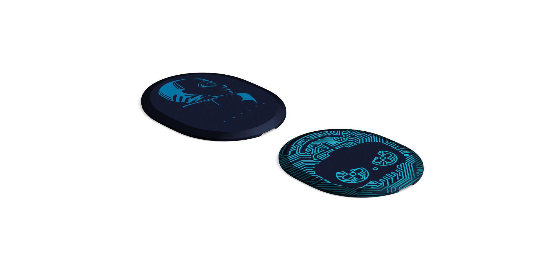 Speaker plates rendered laying flat